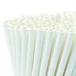 Pajitas de pasta biodegradable Pack 100 piezas